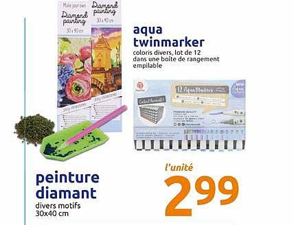 Offre Aqua Twinmarker Peinture Diamant Chez Action