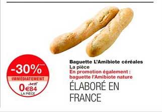 Monoprix Baguette L'amibiote Céréales