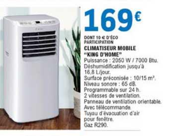 E.Leclerc Climatiseur Mobile King D'home