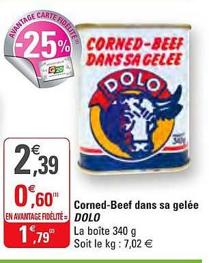 G20 Corned Beef Dans Sa Gelée Dolo