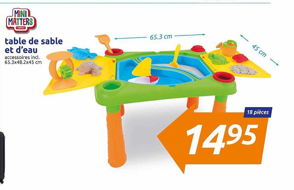 Action Table De Sable Et D'eau Mini Matters