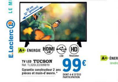 E.Leclerc Tv Led Tucson 80 Cm