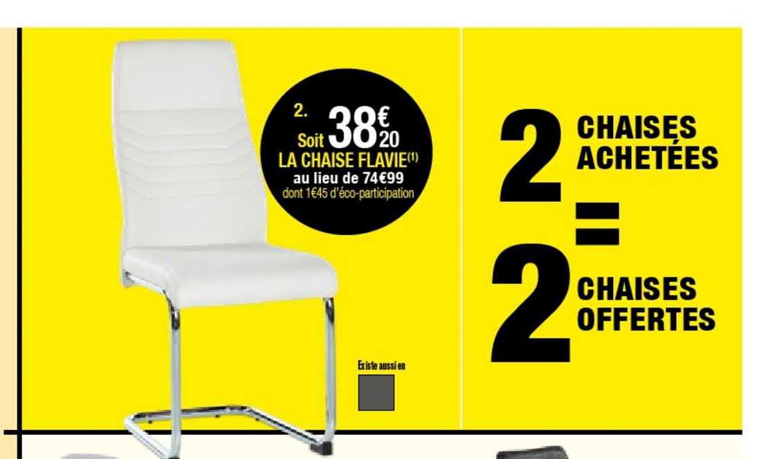 BUT Chaise Flavie 2 Achetées = 2 Offertes