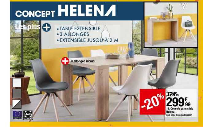 Offre Console Extensible Helena 20 Chez But