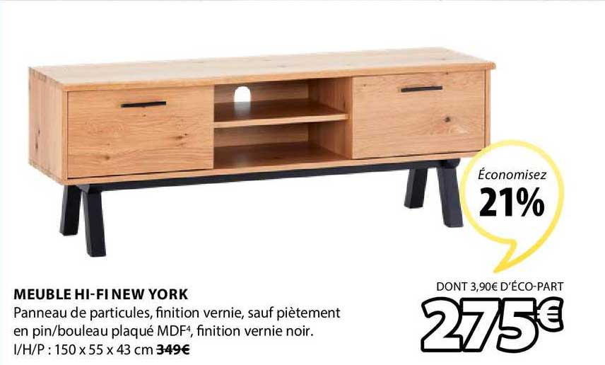 Offre Meuble Hi Fi New York Chez Jysk
