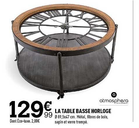 Centrakor La Table Basse Horloge