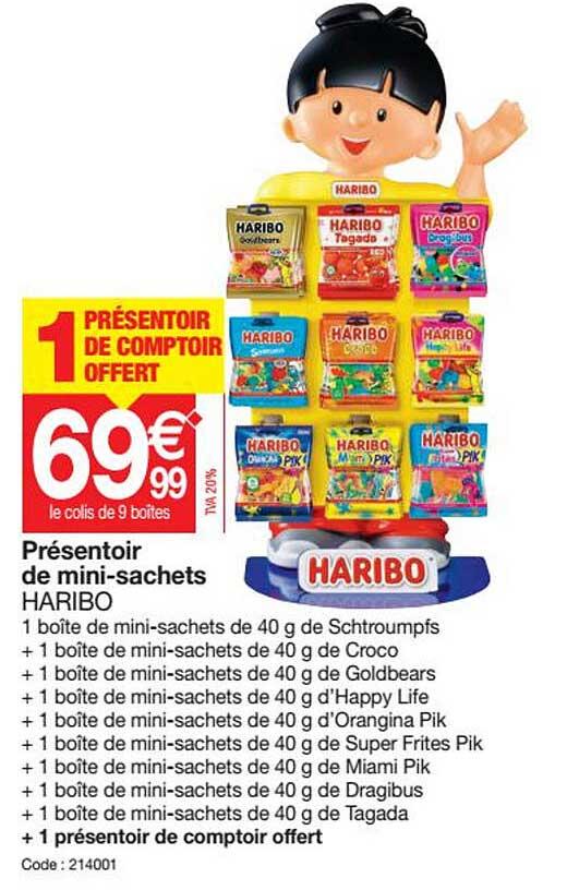 Promocash Présentoir De Mini-sachets Haribo