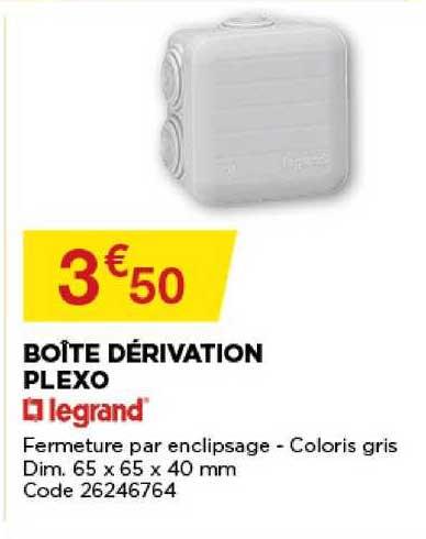 Offre Boite Derivation Plexo Legrand Chez Bricomarche