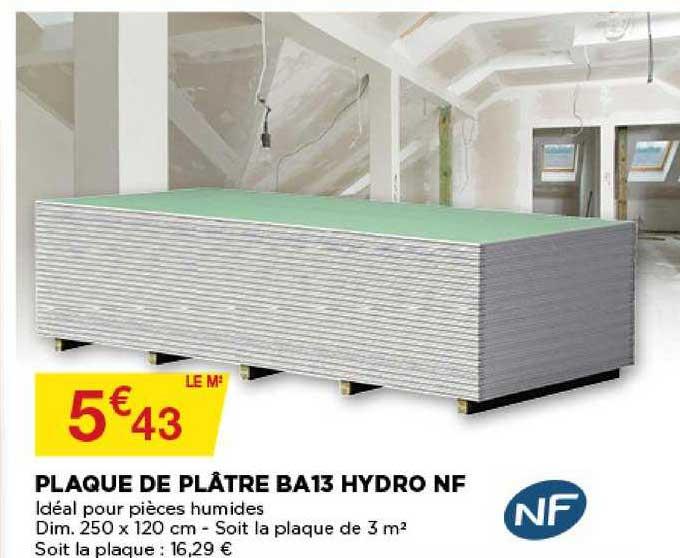 Bricomarché Plaque De Plâtre Ba13 Hydro Nf