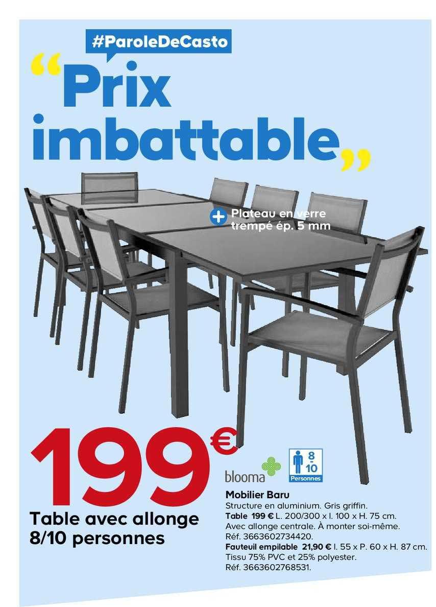 Offre Table Avec Allonge 8 10 Personnes Mobilier Baru Blooma Chez Castorama