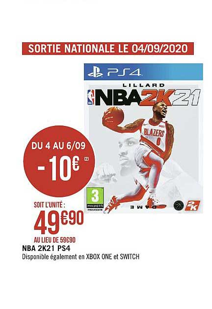 Géant Casino Ps4 Nba 2k21