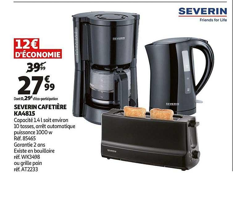 Offre Severin Cafetiere Ka4815 Chez Auchan