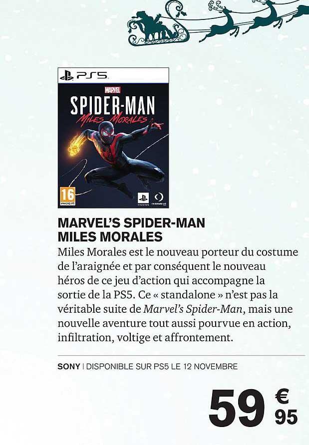Carrefour Marvel's Spider-man Miles Morales