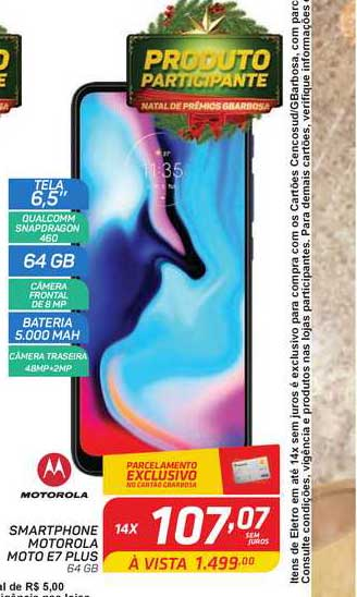 GBarbosa Smartphone Motorola Moto E7 Plus