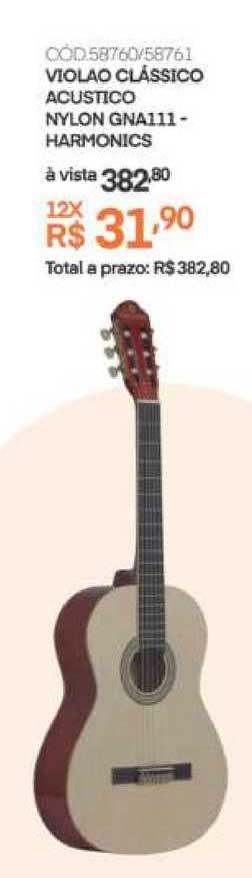 Schumann Violao Clássico Acustico Nylon Gna111 Harmonics