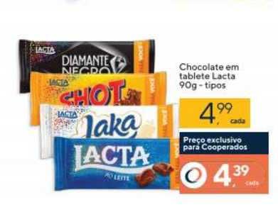 Coop Chocolate Em Tablete Lacta