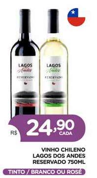 Supermercados Real Vinho Chileno Lagos Dos Andes Reservado Tinto Branco Ou Rosé