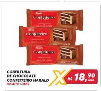 Maxxi Atacado Cobertura De Chocolate Confeiteiro Harald