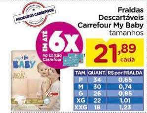 Carrefour Fraldas Descartáveis Carrefour My Baby