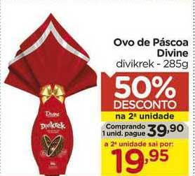 Carrefour Ovo De Páscoa Divine Divikrek 50% De Desconto Na 2a Unidade