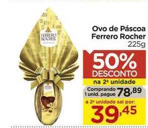 Carrefour Ovo De Páscoa Ferrero Rocher 50% De Desconto Na 2a Unidade
