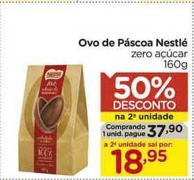 Carrefour Ovo De Páscoa Nestlé Zero Açúcar 50% De Desconto Na 2a Unidade
