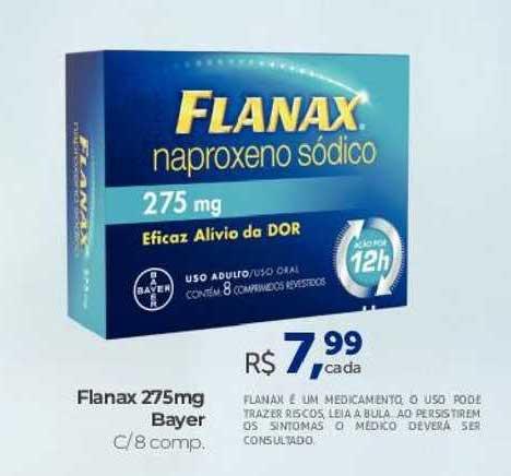 Farmácia São João Flanax 275mg Bayer
