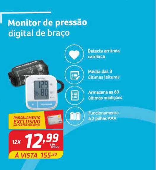 GBarbosa Monitor De Pressão Digital De Braço
