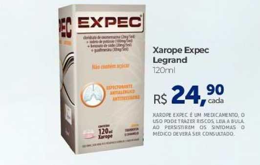 Farmácia São João Xarope Expec Legrand
