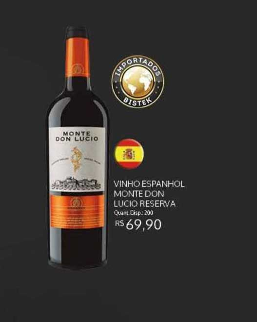 Bistek Supermercados Vinho Espanhol Monte Don Lucio Reserva