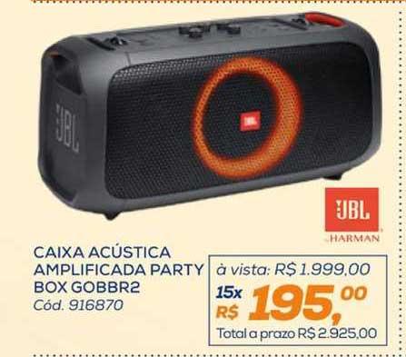 Lojas Colombo Caixa Acústica Amplificada Party Box Gobbr2