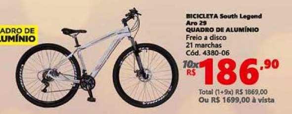 Lojas Becker Bicicleta South Legend Aro 29 Quadro De Alumínio