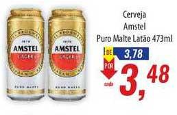 Supermercados BH Cerveja Amstel Puro Malte Latão 473ml