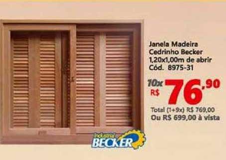 Lojas Becker Janela Madeira Cedrinho Becker
