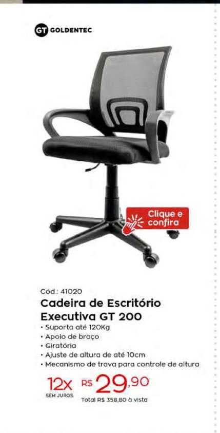 Ibyte Cadeira De Escritório Executiva Gt 200