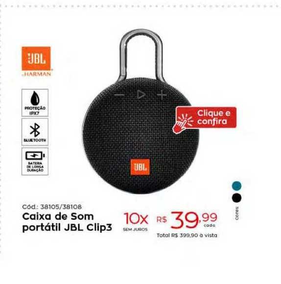 Ibyte Caixa De Som Portátil Jbl Clip3