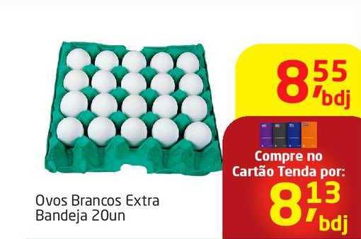 Tenda Atacado Ovos Brancos Extra Bandeja