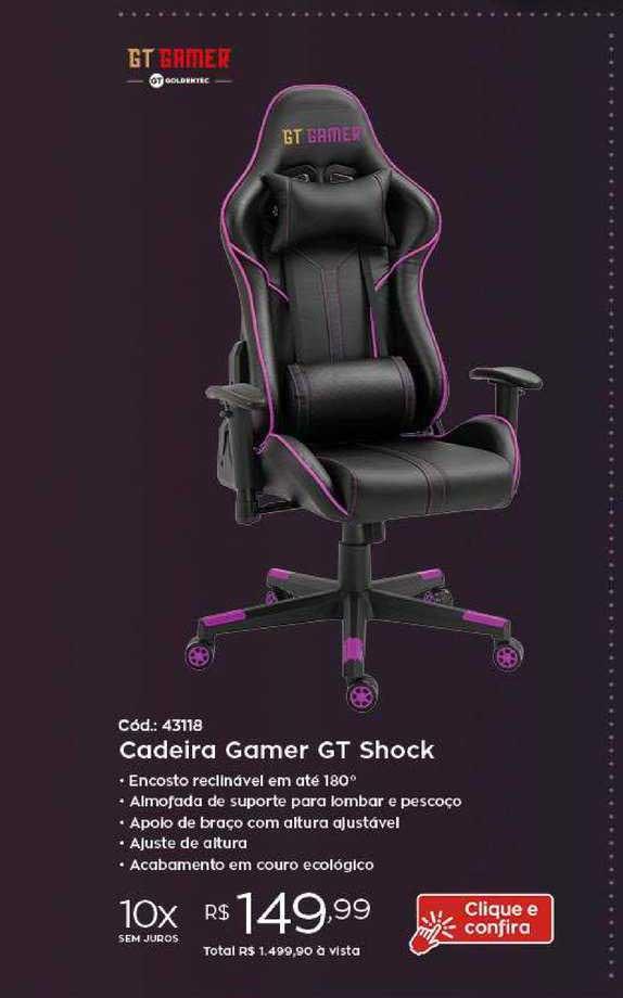 Ibyte Cadeira Gamer Gt Shock