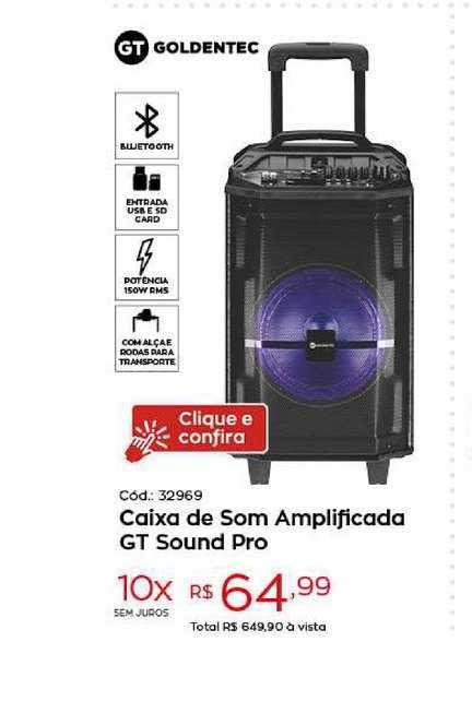 Ibyte Caixa De Som Amplificada Gt Sound Pro