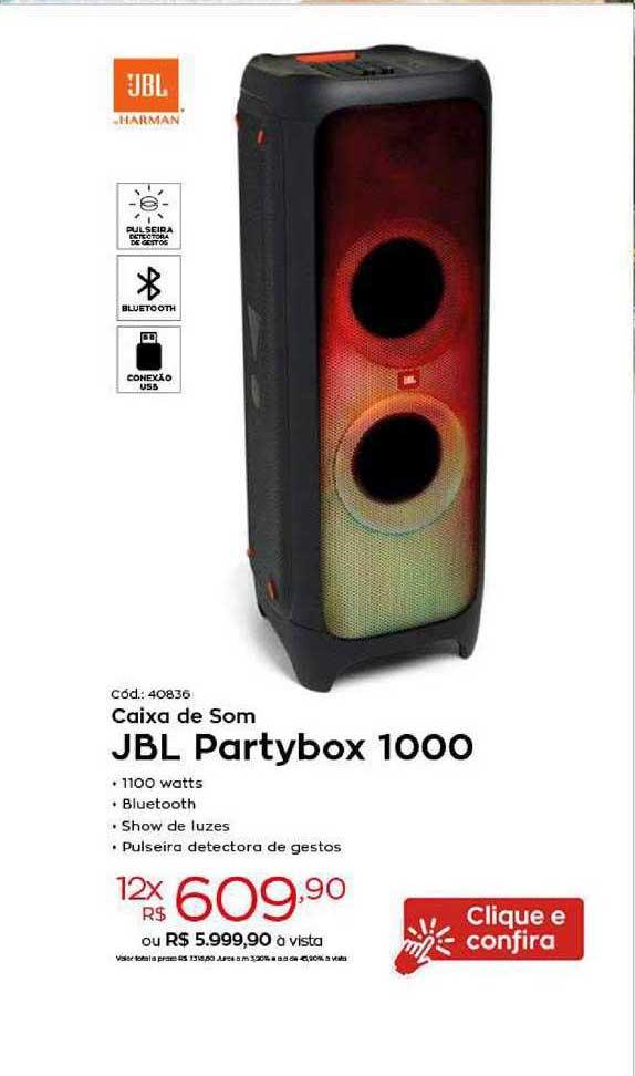 Ibyte Caixa De Som Jbl Partybox 1000