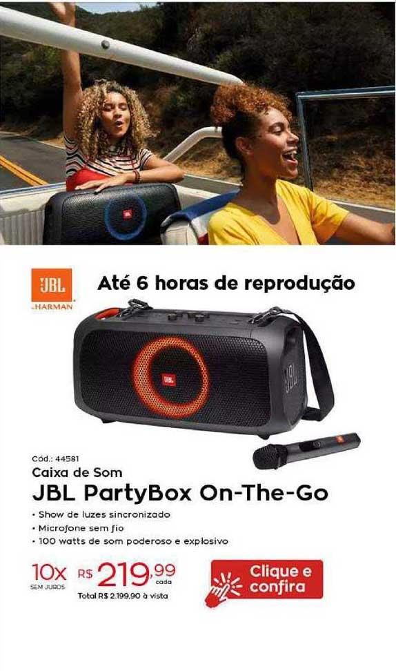 Ibyte Caixa De Som Jbl Partybox On The Go
