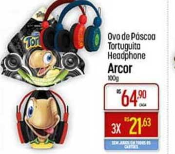 Super Muffato Ovo De Páscoa Tortuguita Headphone Arcor