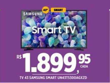 DB Supermercados Tv 43 Samsung Smart Un43t5300 Agxzd