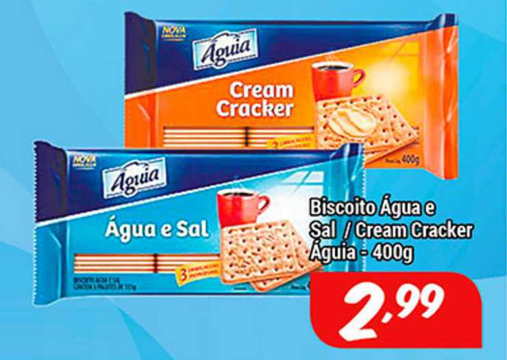 Shibata Supermercados Biscoito água E Sal Cream Cracker águia