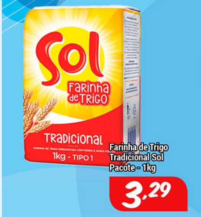 Shibata Supermercados Farinha De Trigo Tradicional Sol Pacote