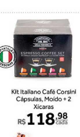 Verdemar Supermercado Kit Italiano Café Corsini Cápsulas Moído 2+2 Xicaras