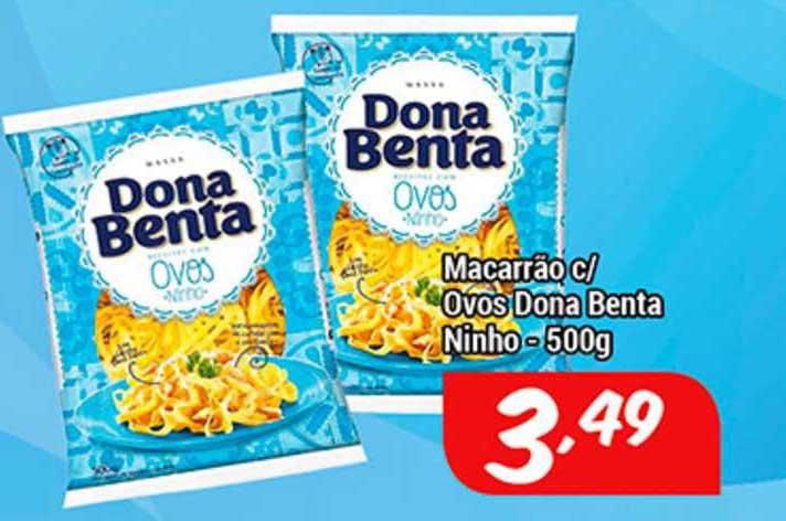 Shibata Supermercados Macarrão C Ovos Dona Benta Ninho