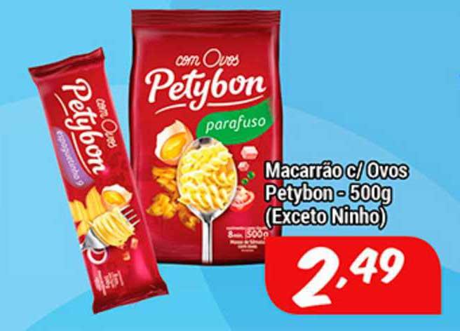 Shibata Supermercados Macarrão C Ovos Petybon (exceto Ninho)