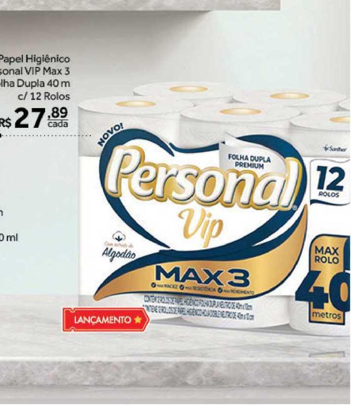 Verdemar Supermercado Papel Higiênico Personal Vip Max 3 Folha Dupla