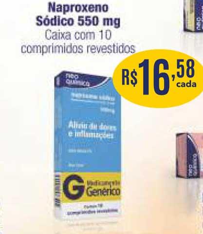Drogaria Total Naproxeno Sódico 550 Mg